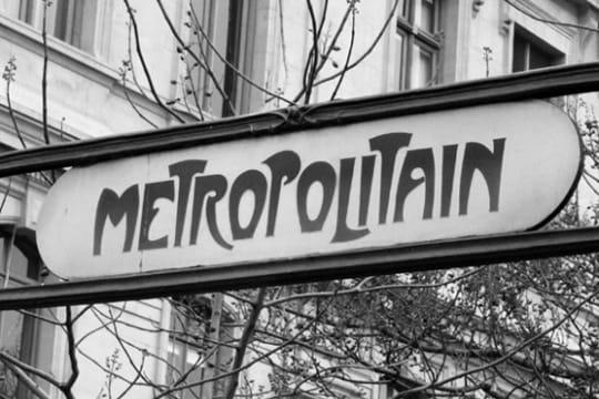 paris en noir et blanc ... Metropolitain-389635