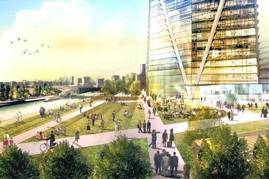 Un nouvel espace vert en bord de seine hermitage plaza for Espace vert tours