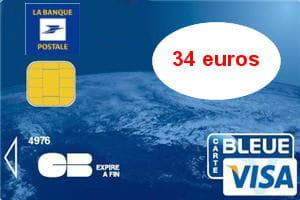 6e ex-aequo - La Banque postale (Visa) : 34 euros par an : Les cartes bancaires les moins chères ...