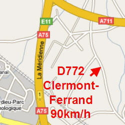 carte radars clermont ferrand