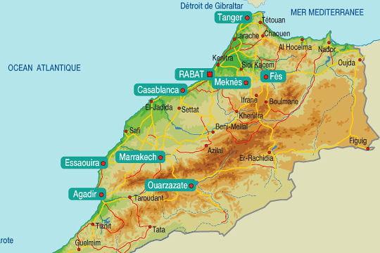 La carte de l'Atlas marocain