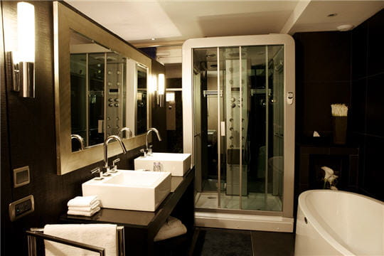 mobilier table salle de bain hotel de luxe. Black Bedroom Furniture Sets. Home Design Ideas