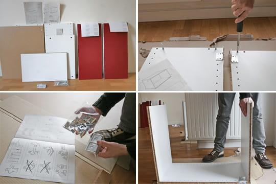 l 39 assemblage d 39 un l ment mural monter une cuisine en. Black Bedroom Furniture Sets. Home Design Ideas