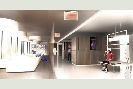 l'extension de Roland-Garros Vestiaires-429125