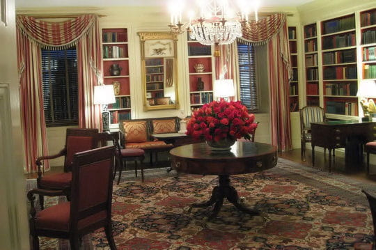 la biblioth que visite de la maison blanche linternaute. Black Bedroom Furniture Sets. Home Design Ideas