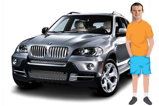 Wayne Rooney X5 Wayne Rooney en BMW X Les voitures des footballeurs Linternaute