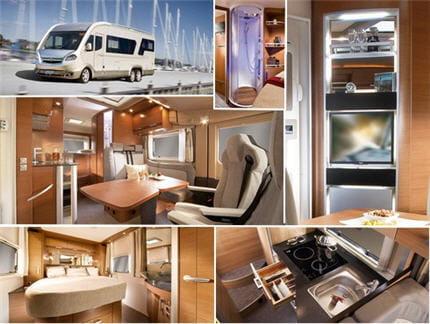 les camping cars tr s haut de gamme tout savoir sur le camping car linternaute. Black Bedroom Furniture Sets. Home Design Ideas