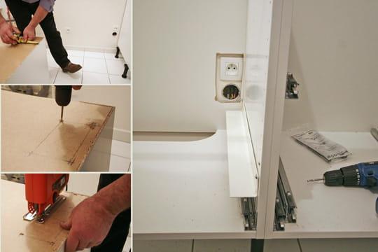 le cas des prises lectriques monter une cuisine en kit ikea linternaute. Black Bedroom Furniture Sets. Home Design Ideas