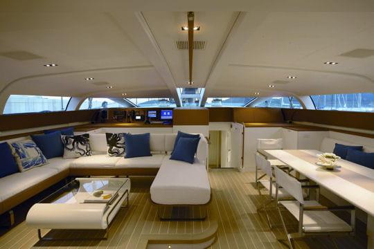 Salon et salle manger p2 le yacht voile mod le de for Exemple de salon salle a manger