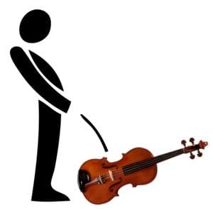 on est passé de 'siffler' à 'pisser' dans un violon...