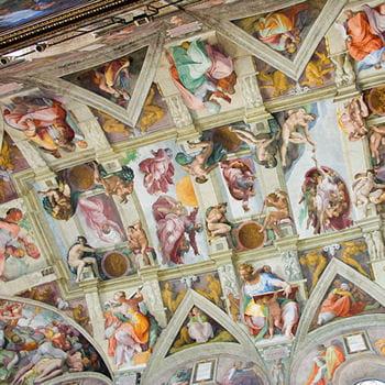 En italie le plafond de la chapelle sixtine les 150 - Fresque du plafond de la chapelle sixtine ...