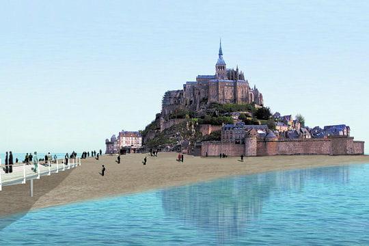 La possibilit d 39 une le les grands travaux au mont saint michel lint - Travaux mont saint michel ...