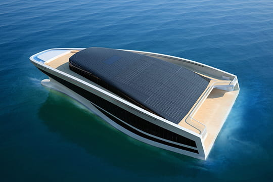 un yacht 'vert'