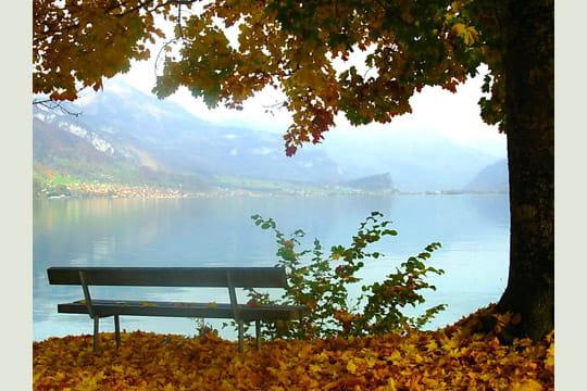 Une ouverture sur le lac de brienz aux couleurs de l 39 t - Lac de brienz ...