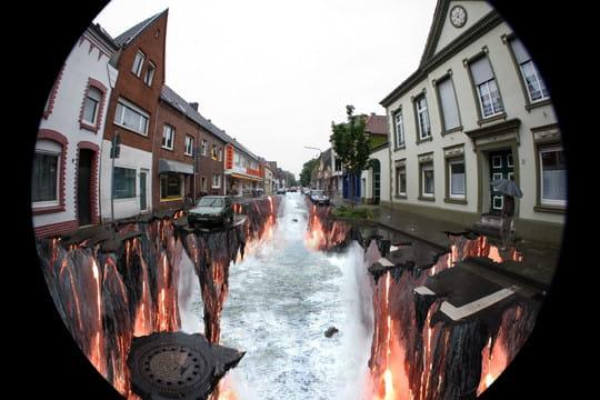 Des illusions d 39 optique en pleine rue - Illusion optique dessin ...