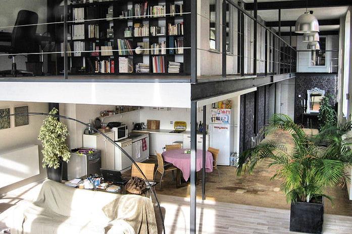 un loft industriel et chaleureux. Black Bedroom Furniture Sets. Home Design Ideas