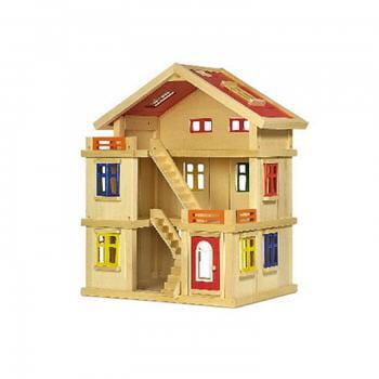 une maison en bois modulable jeux et jouets pour petits. Black Bedroom Furniture Sets. Home Design Ideas