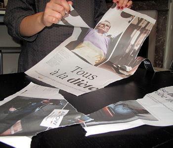 Le papier journal - Meuble papier journal ...