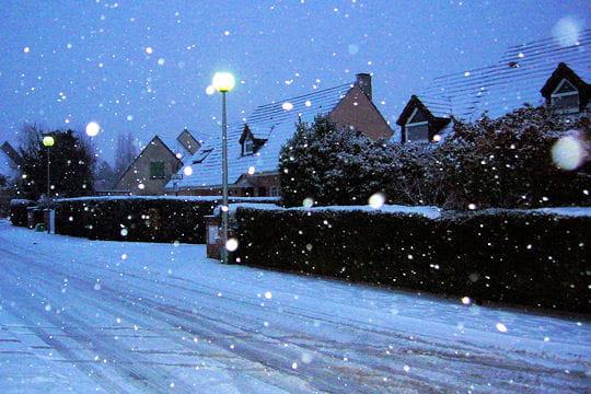la sous la neige