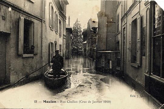 Meulan la grande crue de 1910 linternaute for Piscine de meulan