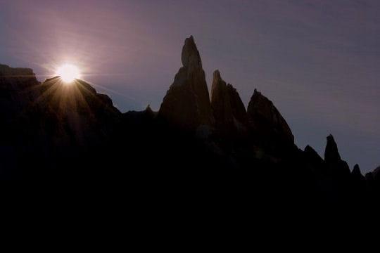 coucher de soleil sur le mont cerro