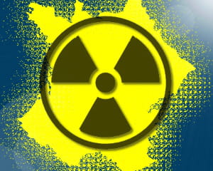 radiactivité : les départements les plus touchés.