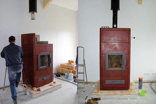 Un poêle qui chauffe toute la maison  La maison en bois