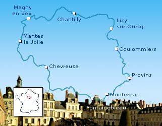 a voir sur le gr11 :la ville fortifiée de provins, le château et la forêt de