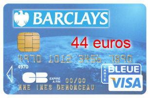 31e barclays avec une visa classic 44 euros cartes bancaires les banques moins ch res en. Black Bedroom Furniture Sets. Home Design Ideas