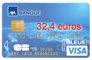 3e axa banque avec une visa classic 32 4 euros. Black Bedroom Furniture Sets. Home Design Ideas