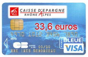5e caisse d 39 pargne rh ne alpes avec une visa classic - Plafond carte bleue visa caisse d epargne ...
