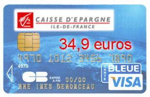 13e caisse d 39 pargne ile de france avec une visa classic 34 9 euros cartes bancaires les. Black Bedroom Furniture Sets. Home Design Ideas