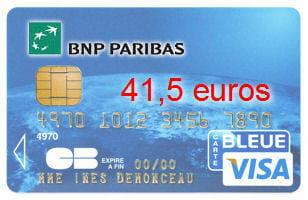 30e bnp paribas avec une visa classic 41 5 euros cartes bancaires les banques moins. Black Bedroom Furniture Sets. Home Design Ideas