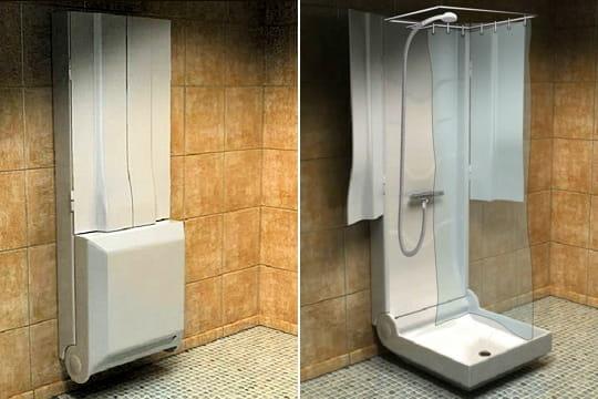 ... petite salle de bains pas de problème cette cabine de douche pliante