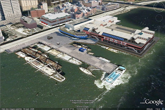 Le South Street Seaport Google Earth En 3d Visite De New York Linternaute