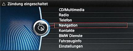 Photo de la navigation par reconnaissance vocale de la BMW