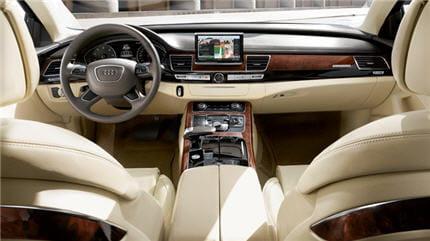Photo intérieur Audi A8, système de navigation