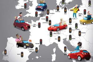 les 59villes les plus embouteillées d'europe.