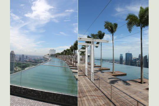 la plus grande piscine ext rieure marina bay sand le parc suspendu de singapour linternaute. Black Bedroom Furniture Sets. Home Design Ideas