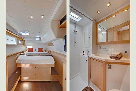 lagoon 450 l 39 am nagement int rieur catamarans de croisi re les nouveaut s linternaute. Black Bedroom Furniture Sets. Home Design Ideas