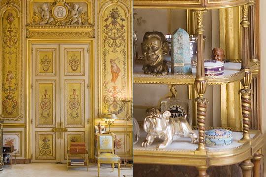 d tails du d cor du bureau pr sidentiel visite du palais de l 39 elys e en images linternaute. Black Bedroom Furniture Sets. Home Design Ideas