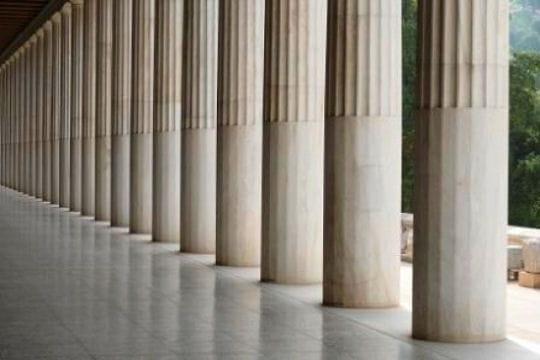colonnes de l'agora