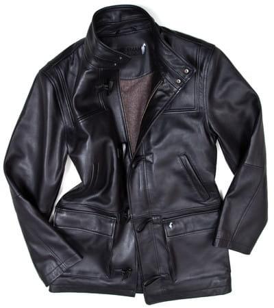 une parka en cuir manteaux chauds pour l 39 hiver linternaute. Black Bedroom Furniture Sets. Home Design Ideas