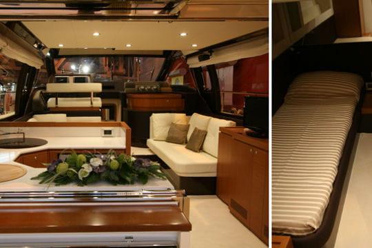 Ferretti 500 le luxe italien les nouveaut s 2010 du salon nautique de par - Salon de luxe italien ...