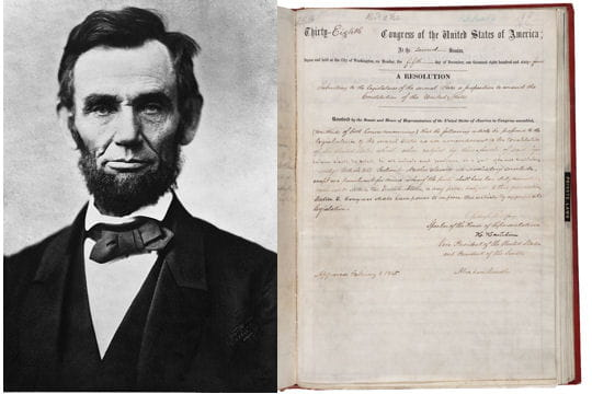 le 13e amendement de la constitution des etats-unis
