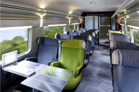 La premi re classe christian lacroix for Interieur tgv