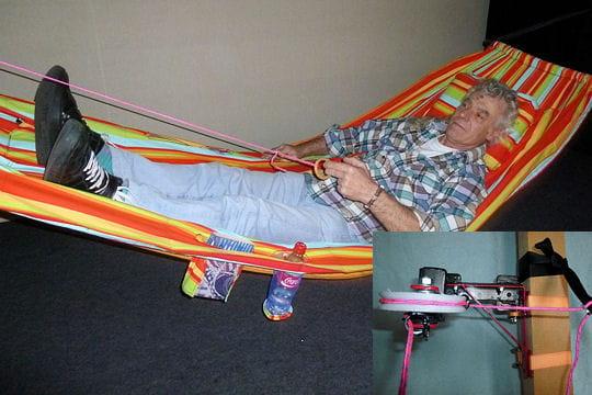 le hamac qui se balance presque tout seul les dr les d 39 inventions du concours l pine 2011. Black Bedroom Furniture Sets. Home Design Ideas