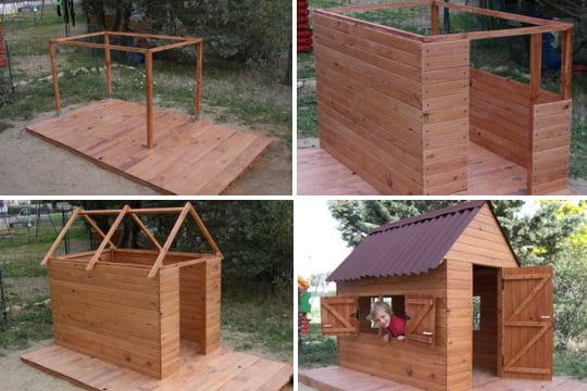 Une cabane taille d 39 enfants les plus belles cabanes des lecteurs li - Cabane en plastique pour enfant ...