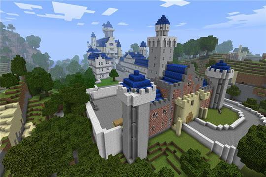 Les châteaux sont très appréciés sur minecraft